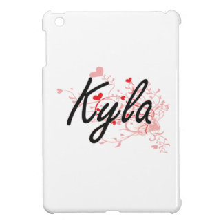 Kyla Artistic Name Design with Hearts Cover For The iPad Mini