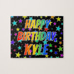 "[ Thumbnail: ""Kyle"" First Name, Fun ""Happy Birthday"" Jigsaw Puzzle ]"