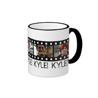 """KYLE!  KYLE!  KYLE!"" RINGER COFFEE MUG"