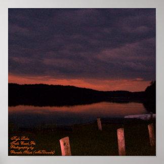 Kyle Lake, Falls Creek,Pa,-Sunset Poster