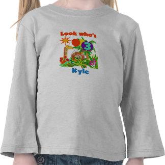 """Kyle"" Safari 3rd Birthday T-shirt"