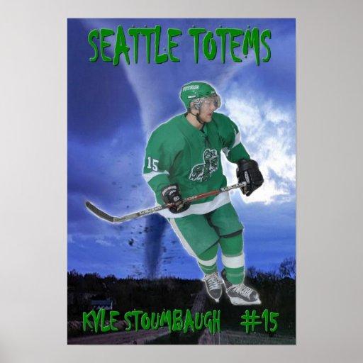 Kyle Stoumbaugh - tótemes de Seattle Póster