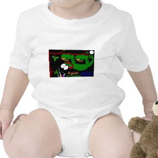 Kyle The Chameleon! In Celtic Green Baby Bodysuit