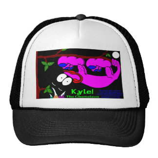 Kyle The Chameleon! In Pink Trucker Hat