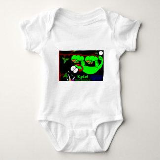 Kyle The Chameleon!  Lime Green Baby Bodysuit