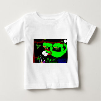 Kyle The Chameleon!  Lime Green Baby T-Shirt
