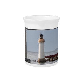 Kyleakin Lighthouse, Skye Bridge, Scotland Drink Pitcher