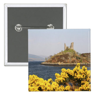 Kyleakin Scotland The ancient ruins of 2 Pinback Buttons