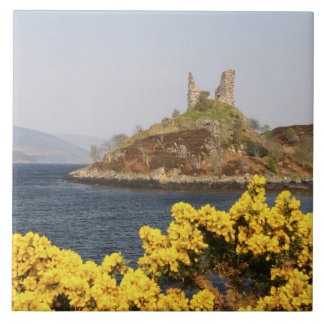 Kyleakin, Scotland. The ancient ruins of 2 Ceramic Tile