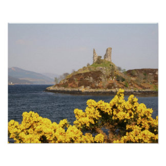 Kyleakin, Scotland. The ancient ruins of 2 Poster