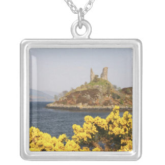 Kyleakin, Scotland. The ancient ruins of 2 Silver Plated Necklace