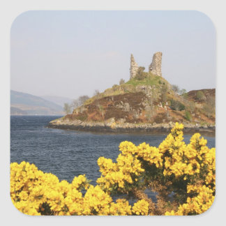 Kyleakin, Scotland. The ancient ruins of 2 Square Sticker