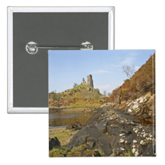 Kyleakin Scotland The ancient ruins of Pinback Buttons