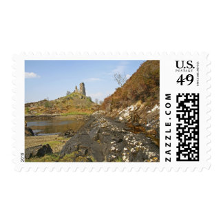 Kyleakin, Scotland. The ancient ruins of Postage