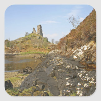 Kyleakin, Scotland. The ancient ruins of Square Sticker