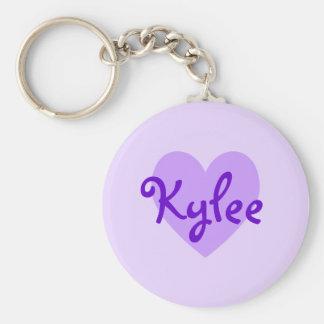 Kylee in Purple Basic Round Button Keychain