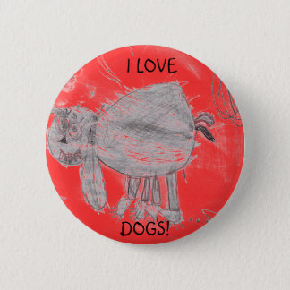 Kylee's picture, I LOVE, DOGS! Pinback Button