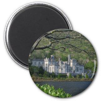 Kylemore Abbey In The Connemara Ireland 2 Inch Round Magnet