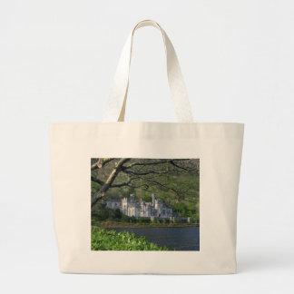 Kylemore Abbey In The Connemara Ireland Large Tote Bag
