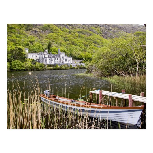 Kylemore Abbey, Ireland. Kylemore Abbey is Postcard