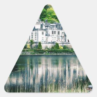 Kylemore Abbey Ireland Triangle Sticker