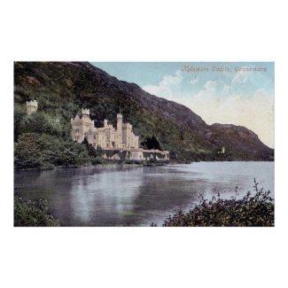 Kylemore Castle Connemara Ireland 1920s Vintage print