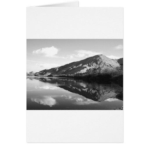 Kylemore Lake B&W Greeting Card