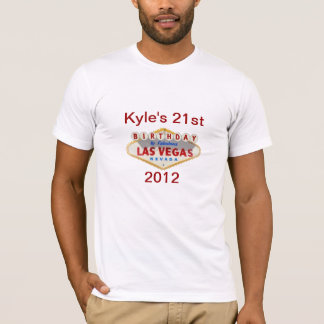 Kyle's 21st Birthday Las Vegas Shirt