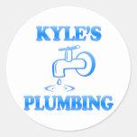 Kyle's Plumbing Classic Round Sticker
