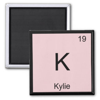 Kylie  Name Chemistry Element Periodic Table 2 Inch Square Magnet