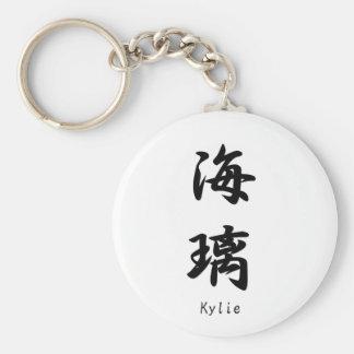 Kylie tradujo a símbolos japoneses del kanji llavero personalizado