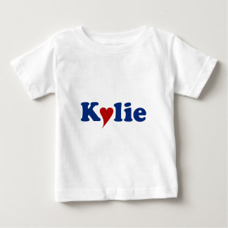 Kylie with Heart Baby T-Shirt