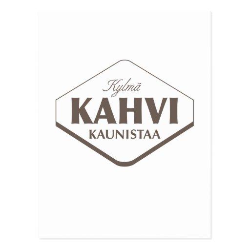 Kylmä Kahvi Kaunistaa Postcard 2