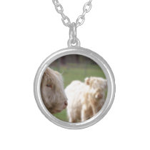 Kyloe Highland Bull Cow Cattle Scottish Breed Silver Plated Necklace