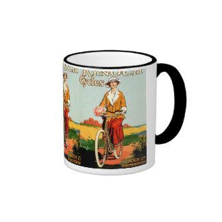 Kynoch Cycyles - arte del poster de la bicicleta d Tazas De Café