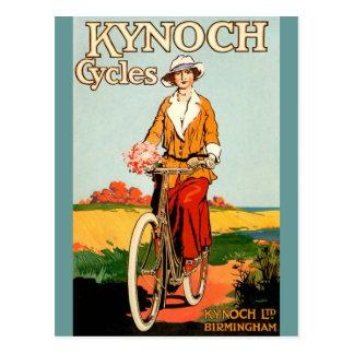 Kynoch Cycyles - arte del poster de la bicicleta Tarjeta Postal