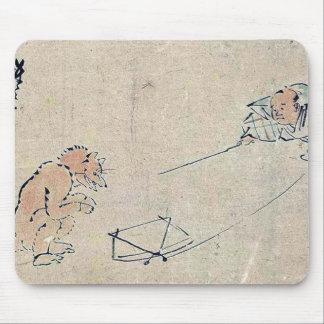 Kyogen performance Tsurigitsune by Kawanabe,Gyosai Mousepad