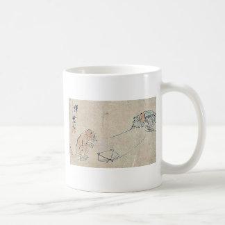 Kyogen performance Tsurigitsune by Kawanabe,Gyosai Coffee Mug