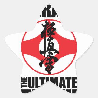 Kyokushin_0002 png pegatinas forma de estrella personalizadas
