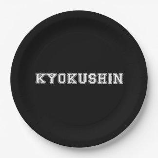 Kyokushin Karate Paper Plate