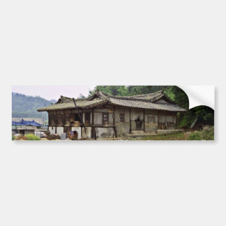 Kyongsangbuk-Do - Yi Dynasty Farmhouse Near Andong Car Bumper Sticker