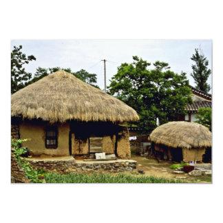 """Kyongsangbuk-Hace - el pueblo tradicional de Hahoe Invitación 5"""" X 7"""""""