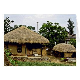Kyongsangbuk-Hace - el pueblo tradicional de Hahoe Tarjeta De Felicitación