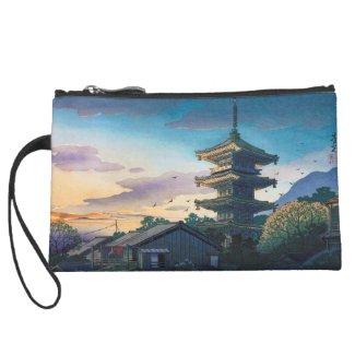 Kyoraku attractions Nomura Yasaka pagoda sunshine Wristlet Clutches