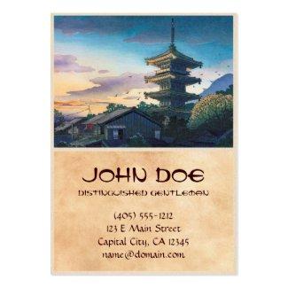 Kyoraku attractions Nomura Yasaka pagoda sunshine Business Card