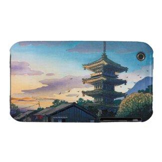 Kyoraku attractions Nomura Yasaka pagoda sunshine iPhone 3 Covers
