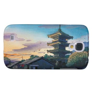 Kyoraku attractions Nomura Yasaka pagoda sunshine Galaxy S4 Covers