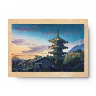 Kyoraku attractions Nomura Yasaka pagoda sunshine Envelope
