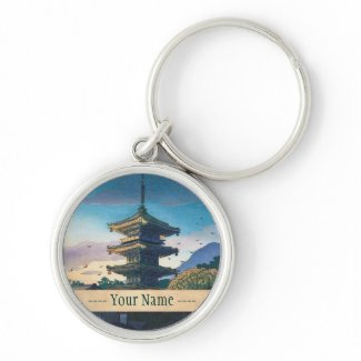 Kyoraku attractions Nomura Yasaka pagoda sunshine Keychain
