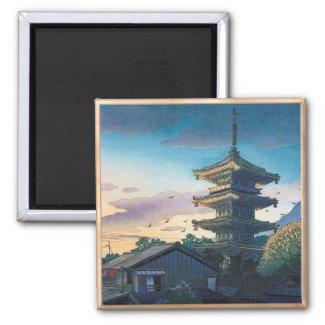 Kyoraku attractions Nomura Yasaka pagoda sunshine Magnet